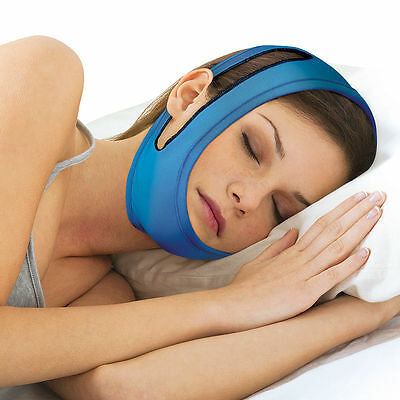 NEW Anti-Snore Adjustable Chin Strap - Sleeping Device Keeps Mouth Shut At Night