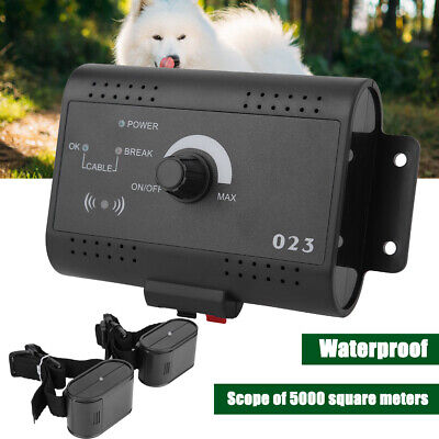 - Waterproof Dog Training Electric Fence System In-ground Pet Containment 2 Collar