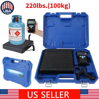 Electronic Digital Refrigerant Charging Weight Scale W Case For Hvac 220lbs Usa