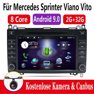 Octa-Kern Android 9.0 Autoradio Sat Navi für Mercedes Sprinter Viano Vito W639