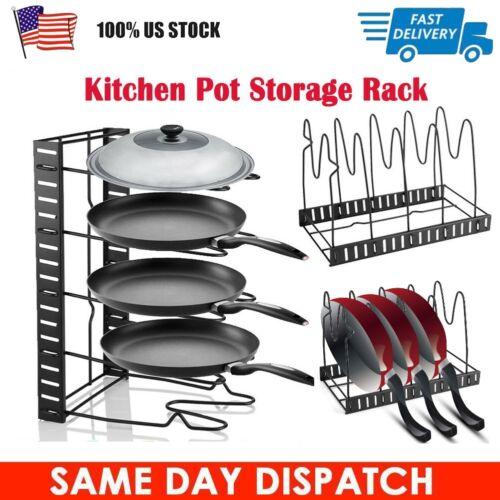 5 layer kitchen cabinet pan rack shelf