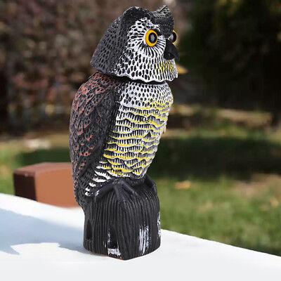 Prowler Owl Decoy Rotating Head Bird Proof Control Scare Pest Repellent Garden
