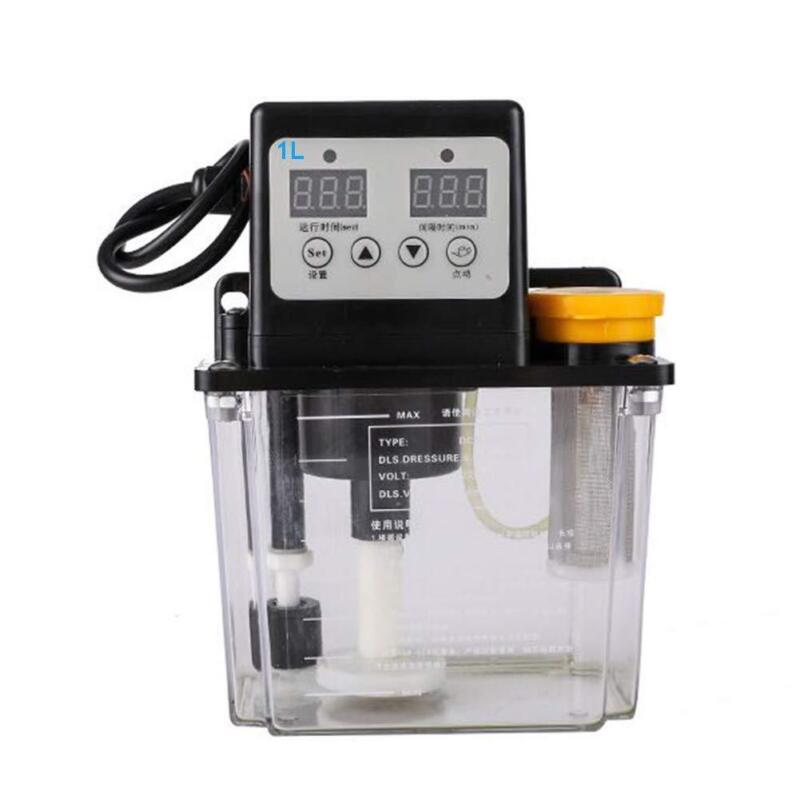 110V Dual Digital Display Automatic Electric Lubrication Pump Oiler NC Pump 1L