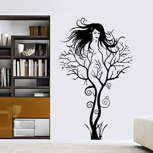 GOTHIC TREE WOMAN   Wall art sticker quote vinyl decor decal transfers