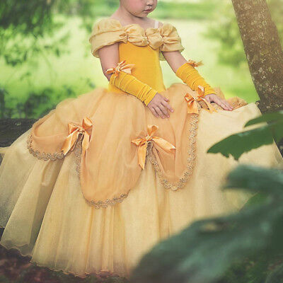 Princess Costume Dress Carnival Belle Beauty and The Beast Ball Gown for Girls - Princess Costume For Teens