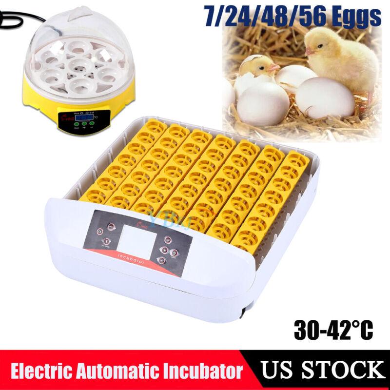 Digital 4 - 56 Egg Incubator Automatic Hatcher Temperature Chicken Duck Bird
