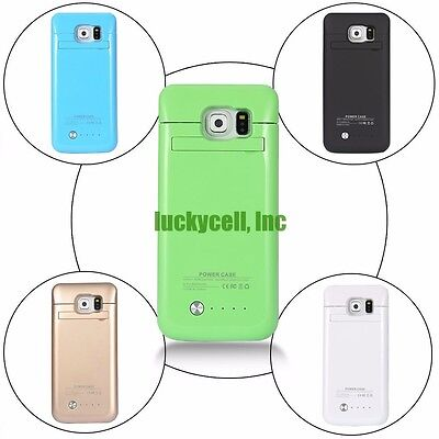 Portable External Battery Backup Power Bank Charger Case Cover For Samsung Phone