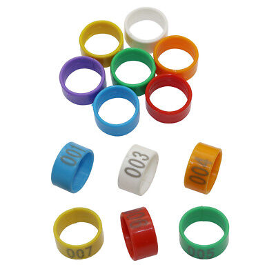 20mm Chicken Leg Bands Numbered 1-100/No Numbers Poultry Leg Rings Plastic Clips (Plastic Chicken Rings)