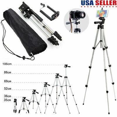 Tripod Mount Holder Stand Bracket For Camera Camcorder/Tablet/Cell Phone + Bag