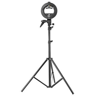 """Neewer S-Type Bracket Holder with Bowens Mount and 75"""" Light Stand for Speedlite"""