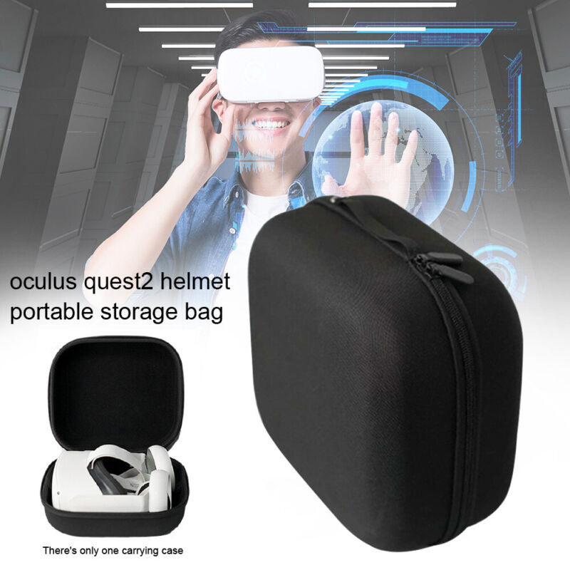 Solid VR Headset Accessories EVA Portable Carrying Case for Oculus Quest 2