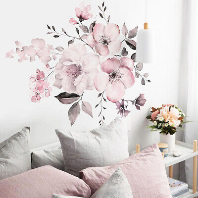 Home Decoration - 3D Flower DIY Wall Sticker Removable Vinyl Quote Decal Mural Home Room Decor Art