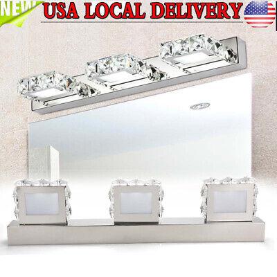 Modern Crystal LED Mirror Front Light Make-up Wall Lamp Fixtures Bathroom Light