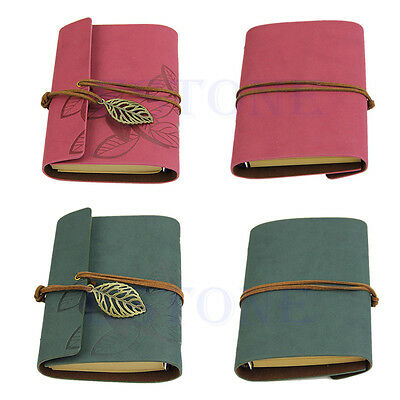 Vintage PU Leather Cover Loose Leaf Blank ...