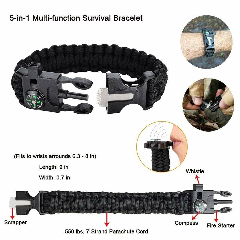 40 In 1 Outdoor Camping Survival Kit Military Tactical Emergency Gear EDC Bag 6