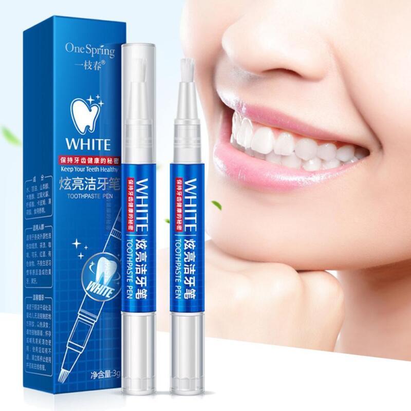 Zahnflecken Bleichen Set Zähne Reinigung Whitening Peroxid Gel Whitening Pen