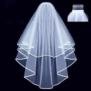 caf7f1e2bb Veil Comb White With Gold Bride to Be Hen Night Wedding Party Accessories