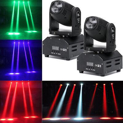 2PCS 60W LED Mini Moving Head Beam Lights DMX512 Stage  Lighting Party DJ Light