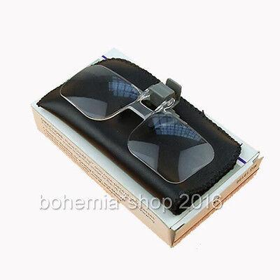 Clip Vorsetzbrille Vorsetzlupe 2 Fach Vergrößerung Sehhilfe Lesebrille Lesehilfe