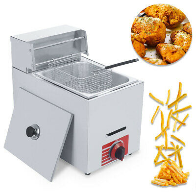 Commercial Countertop Gas Fryer Deep Fryer Propanelpg 1 Basket Stainless Steel