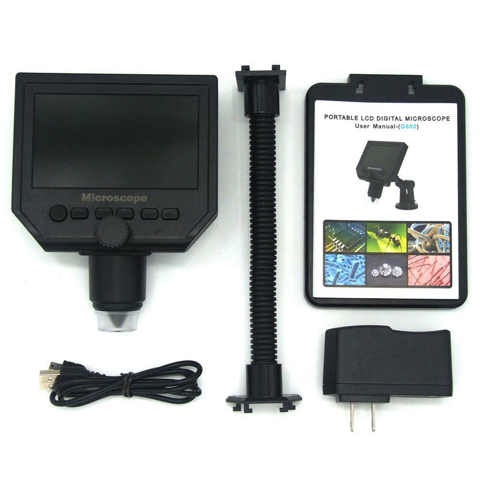600X 4.3 LCD Display 3.6MP Electronic Digital Video Microscope
