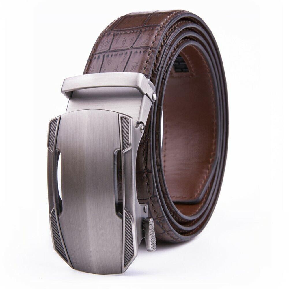 Men's Belt Leather Ratchet  Dress Belts with Automatic Buckle Size Customized Belts