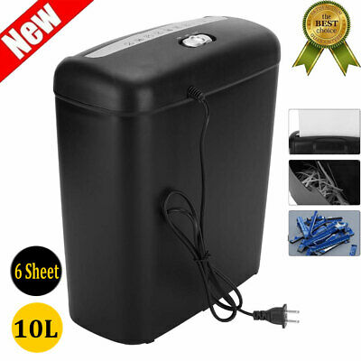 6-sheet Strip-cut Papercredit Card Shredder Destroy Home Office Equipment