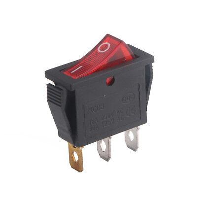 Red Light Onoff 2 Position Spst Boat Rocker Switch 3-pin 15a250v 20a125v Ac