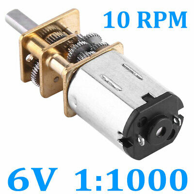 Dc 6v 10rpm High Torque Low Speed Electric Gear Motor Ratio 11000 12mm0.47 New