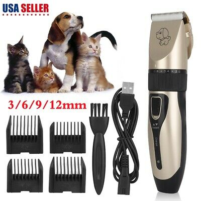Electric Animal Pet Dog Cat Hair Trimmer Shaver Razor Grooming Quiet Clipper US Dog Hair Trimmers