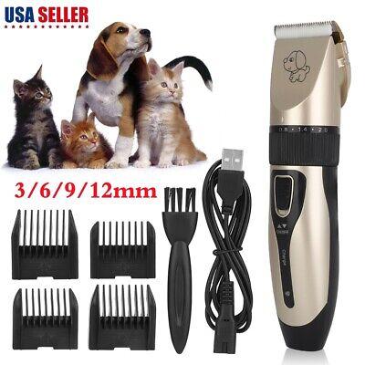 Electric Animal Pet Dog Cat Hair Trimmer Shaver Razor Grooming Quiet Clipper (Grooming Razor)