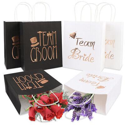 Groomsmen Gift Bags (12x Bridesmaid and Groomsmen Gift Bags Wedding Favor Candy Gift Bags for Guests)