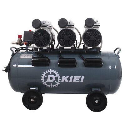 Silent Oilless Air Compressor Max 80L 4.5HP Oil Free Low Noise 65dB Industrial