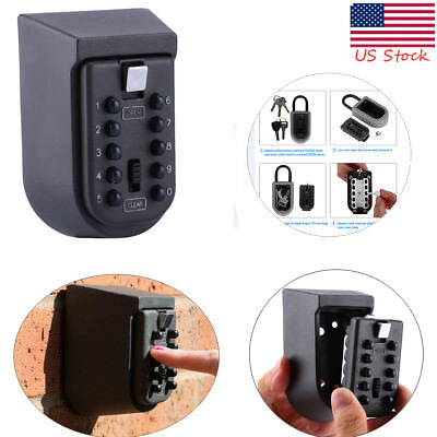 Outdoor Key Safe Box Combination Security Holder Lock Wall Mounted House Hider
