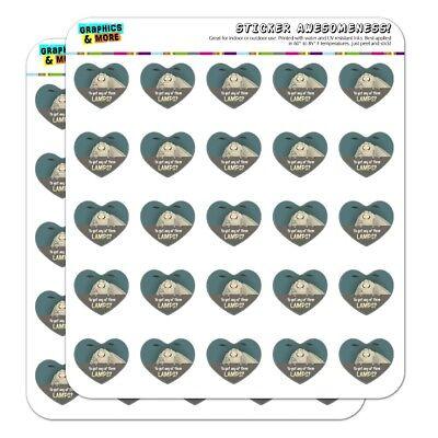 Moth Lamp Meme Heart Shaped Planner Calendar Scrapbook Craft Stickers