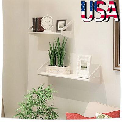 3 MDF Floating Shelves Storage Rack Wall Mounted for Bedroom Bathroom Office US ()