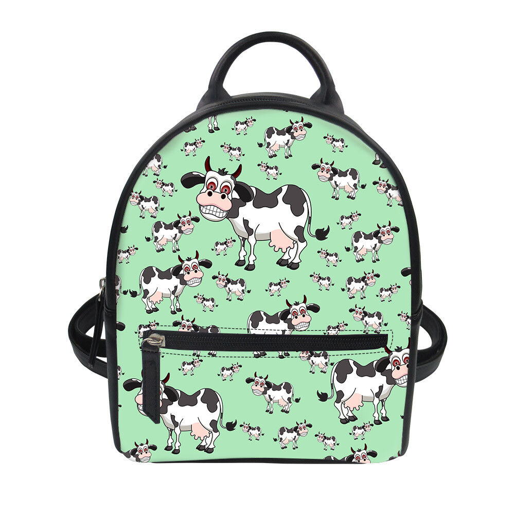 pu leather bag multi cat cow travel
