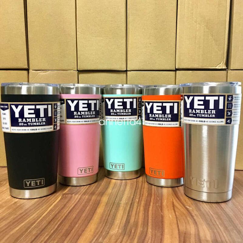 Brand New  YETI Rambler 20 oz Tumbler with transparent lid ~ Multi-Colors
