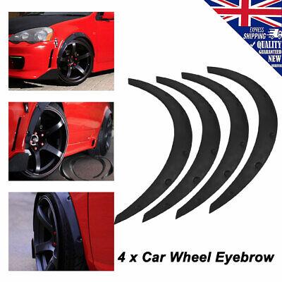 "4pcs 32"" Universal Car Wheel Arch Fender Flare Lips Trim Eyebrow Protector Kit"