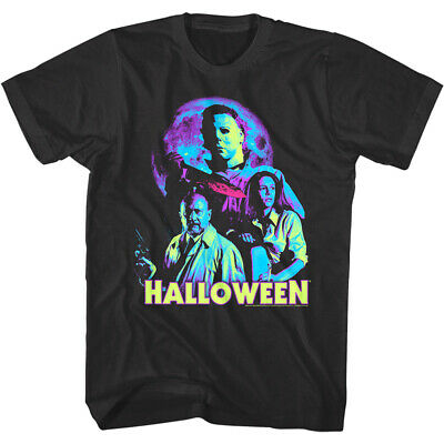 Michael Moon Halloween (Halloween Neon Moon Men's T Shirt Horror Movie Ensemble Michael Myers)