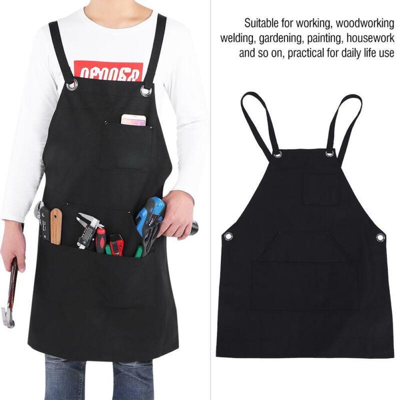 Waxed Canvas Welding Bib Blacksmith Apron Safety Work Supplies Pocket