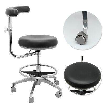 Dental Office Adjustable Medical Stools Assistants Stools Nurse Chair Pu Black