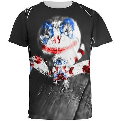 Patriotic Killer Clown Spider Of Halloween All Over Mens T Shirt - All Halloween Killers