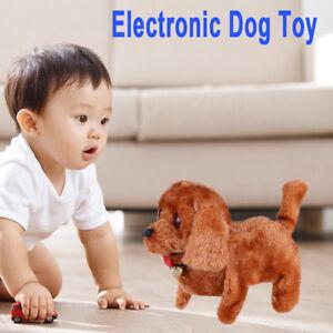 Children Kids Plush Walking Barking Electronic Dog Toy Gift for Kids Brown USA