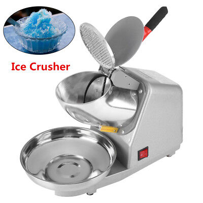 Electric 187lbs Snow Cone Ice Shaver Maker Machine Ice Crusher Sliver Home Diy