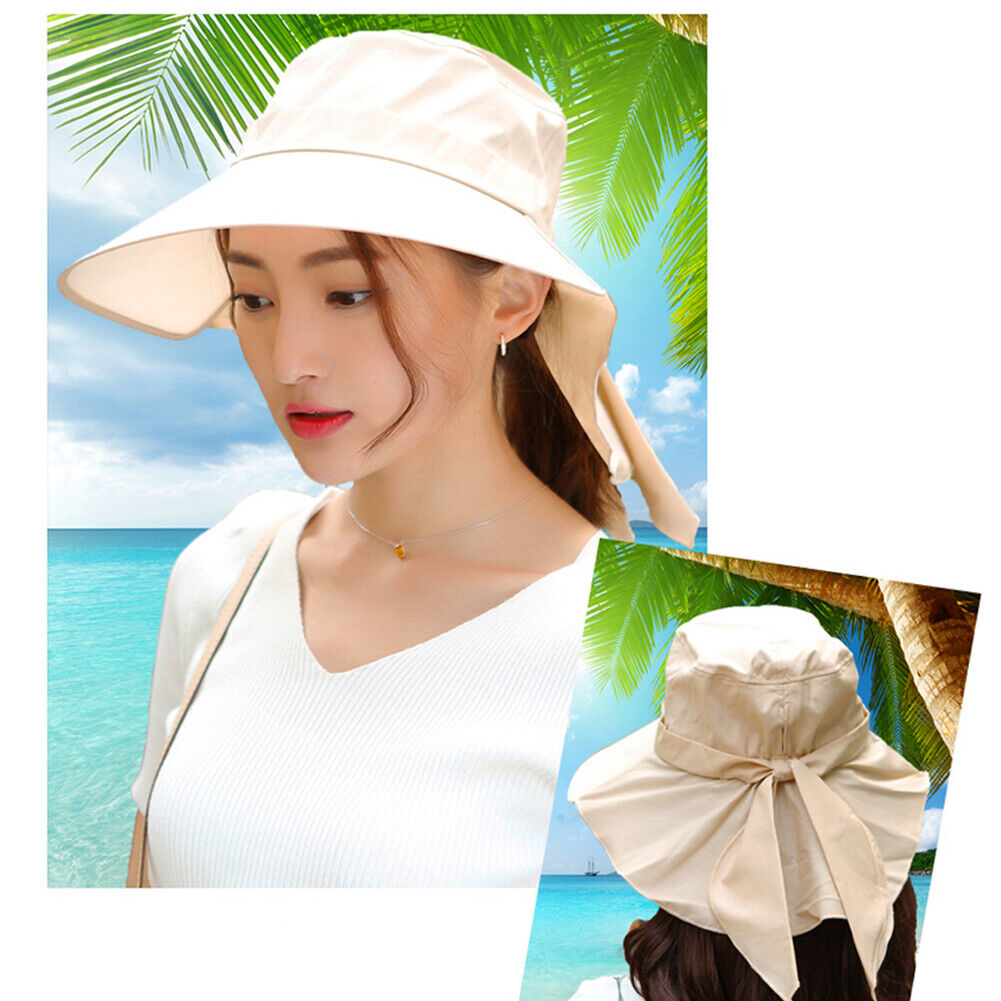 WHY Bow Sunhat Beach hat Fishing Boating Hiking Cycling or Beach Vacation Women