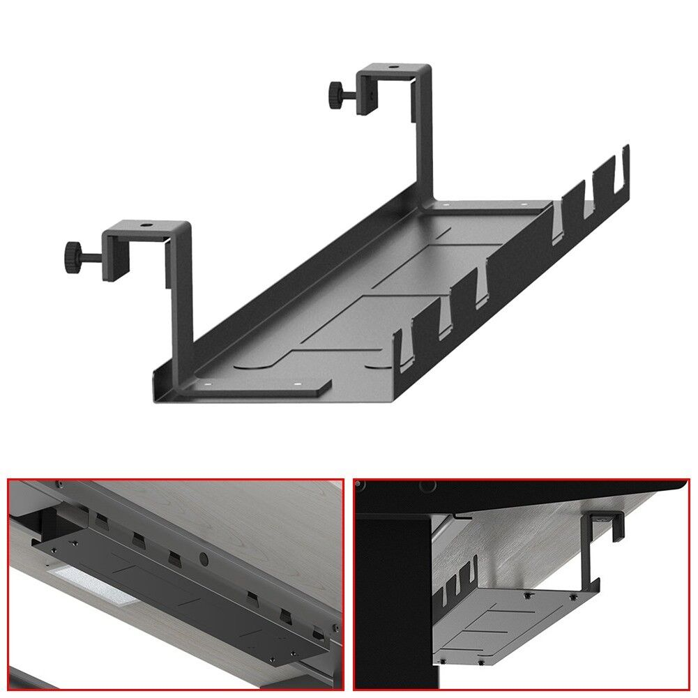 Details About Under Desk Cable Management Tray Wire Cord Strip Adapter Organizer Steel