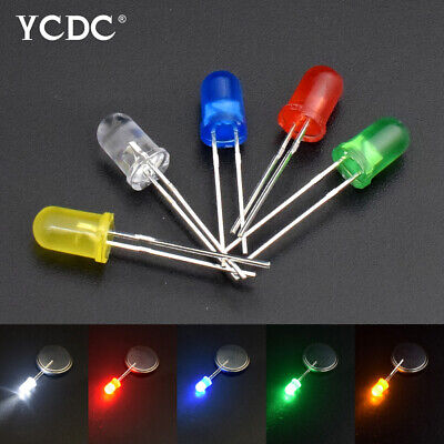 100pcs 5mm Led Light Emitting Diode Lamp For Arduino Electronics Diy Decor Leds