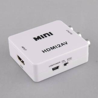 HDMI to RCA Composite HD Video Audio CVBS Adapter