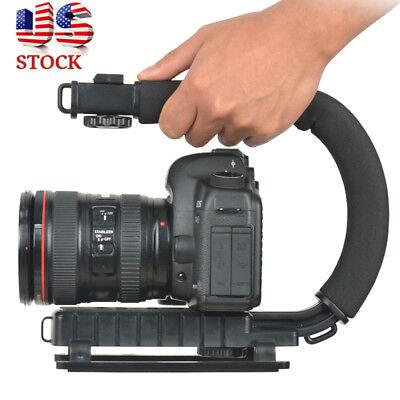 C/U Shape Bracket Handheld Grip Stabilizer Stick for DSLR Camera Camcorder Video